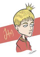 Game of Thrones - Joffrey Baratheon Caricature by LaserDatsun