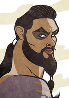 Game of Thrones - Khal Drogo Caricature by LaserDatsun
