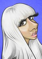 Lady Gaga Caricature by LaserDatsun