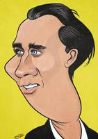 Nicolas Cage Caricature by LaserDatsun