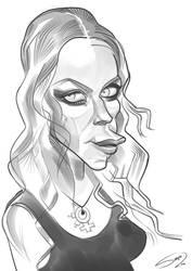 Angela Gossow sketch (Arch Enemy) by LaserDatsun