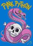 Pink Python T-shirt Design by LaserDatsun