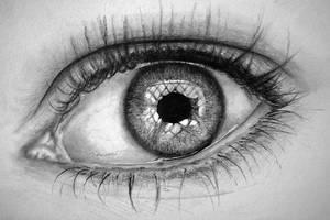 My Eye - A Drawing by bivoirart