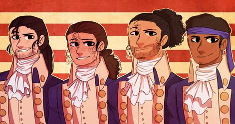 Hamilton Squad(REDRAW) by CaseyKeshui