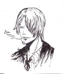 Estampe Portrait  - Sanji by WizzardFye
