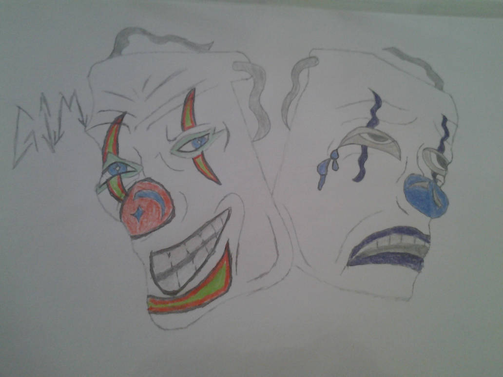 Clown Laugh Now Cry Later Faces Aka Drama Masks By Cmathis92 On