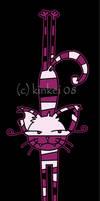 Stretchy Cheshire cat by kinkei
