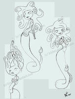 Snake girl sketches by kinkei