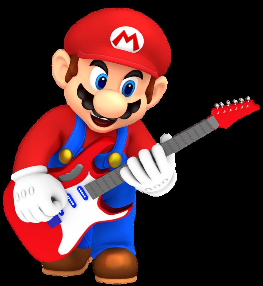 Image courtesy of https://www.deviantart.com/nintega-dario/art/Mario-Playing-Electric-Guitar-681131918