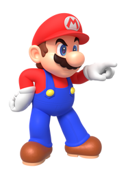 Mario Pointing At Something Render by Nintega-Dario