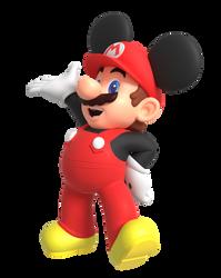Mickey Mario Render by Nintega-Dario