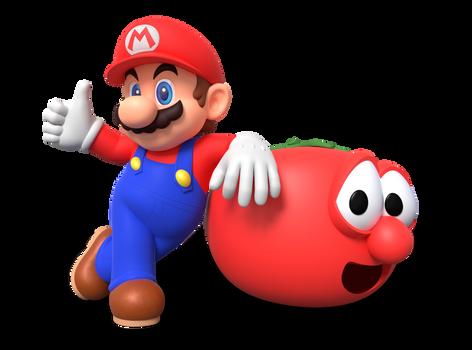 Mario and Bob the Tomato Render by Nintega-Dario