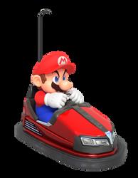 Mario Driving Bumper Car Render by Nintega-Dario