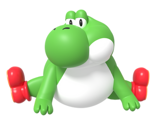 Big Yoshi Doing Split Render by Nintega-Dario