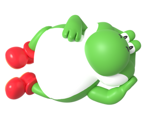 Big Yoshi Laying Down Render by Nintega-Dario