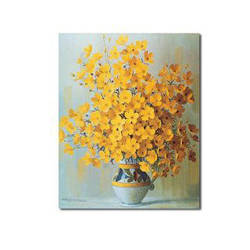 Warm Yellow Bouquets Oil Painting Free Shipping by famouspainting