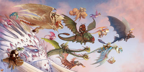Dragons Parade!! by DiaXYZ