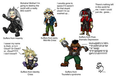 the mental problems of FF7 by Fuzzysocks102