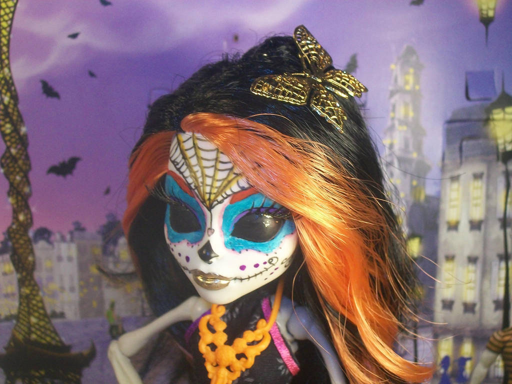 Skelita Calaveras MH repaint 1 by Makeup-love95 on DeviantArt
