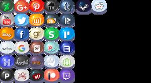Free Social Media Icons by AquaSparkles
