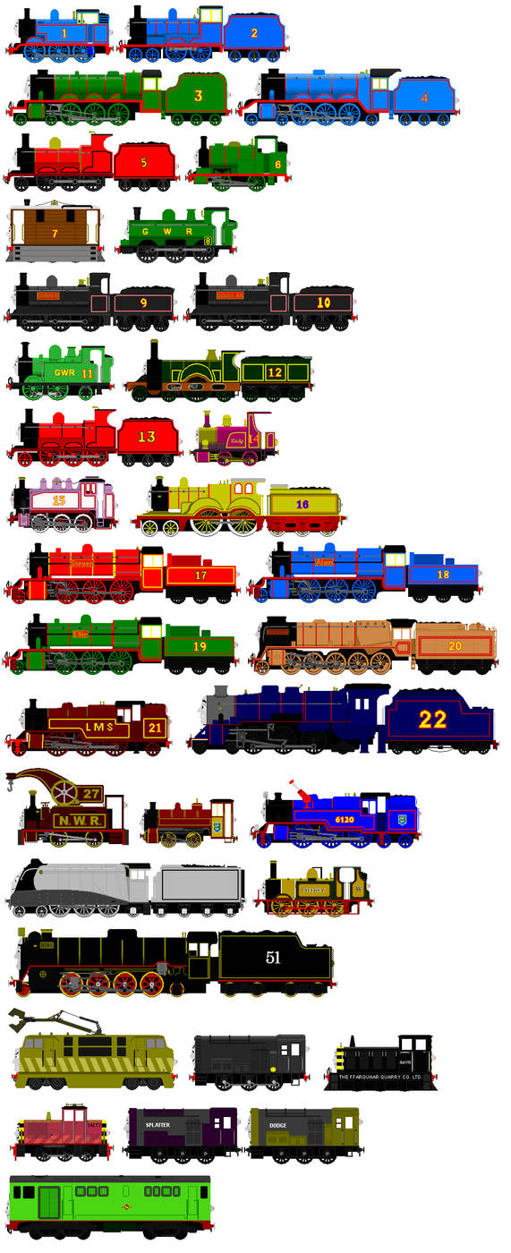 Thomas And Friends Animated Characters 1 By Jamesfan1991 On Deviantart