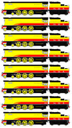 Rebecca the Bulleid Pacific Engine (Sprite Sheet) by JamesFan1991
