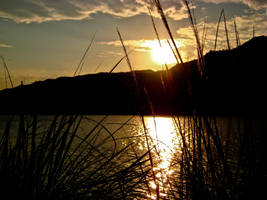 sunset rio ebro II by Iyaja