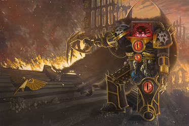 Warmaster Horus by lheneks