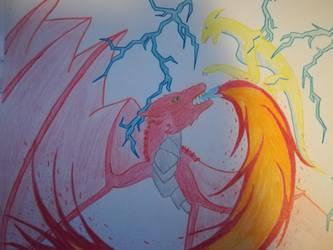 Fight  Blight vs Fire by Heroann