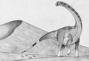 The Broome Titanosaur by Fragillimus335
