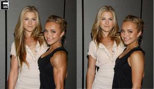 Muscular Ali and Hayden by edinaus