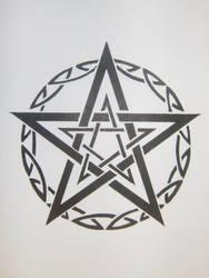 Tribal Pentagram by MagpieVon