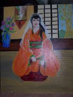 geisha au voile by Midori-ossan
