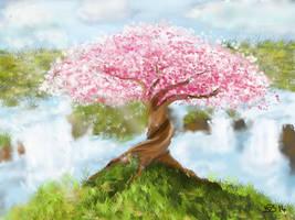 Sakura Tree by Midori-ossan