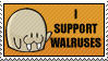 I Support Walruses Stamp by stixman