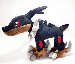Digimon - Dobermon custom plush by KitamonPlush