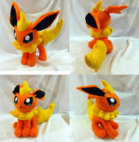 Pokemon- Flareon custom plush by KitamonPlush