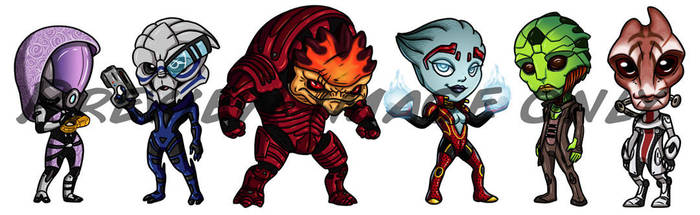 Mass Effect Chibis by Red-Flare