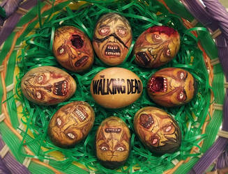 The Walking Dead Eggs by Red-Flare