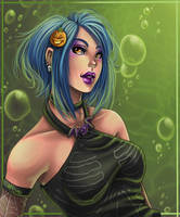 toxic green by Harpyqueen