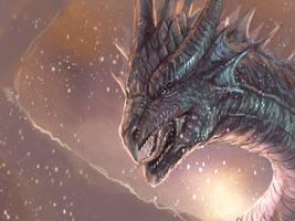 Dragon 1 hour sketch + VIDEO by RobertCrescenzio