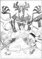 Samurai Jack pencil by bushiboy