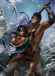 Collab: Haku and Zabuza by jeffszhang