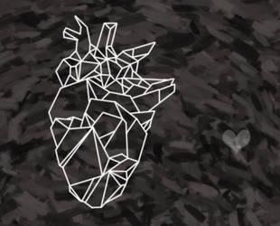 Lined heart by HiddenLordGhost