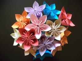Kusudama flowers by Kiiro-sama