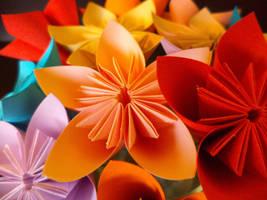 Kusudama flower close-up 1 by Kiiro-sama