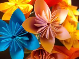 Kusudama flower close-up 2 by Kiiro-sama