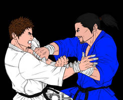 Judo grappling-characters IV by DragoX93