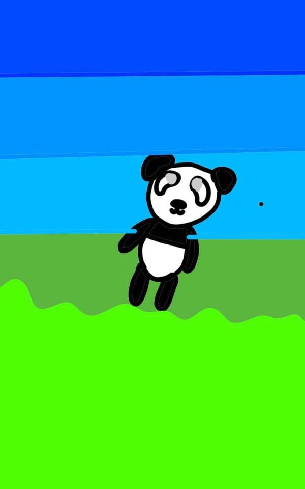 Tiping panda by AlicornnXD