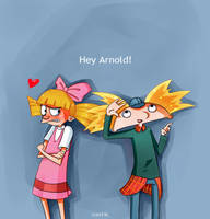 Arnold and Helga by Psychocolour